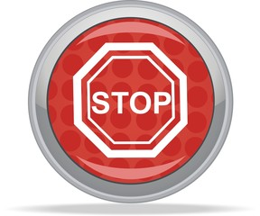 STOP traffic sign symbol - buttom