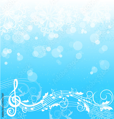 Winter song,music background