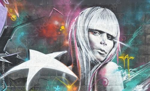 Graffiti picture in Cyprus, Larnaca