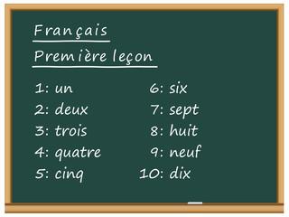 Tableau: français, première leçon