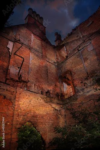 derelict brick building