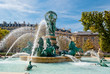 Leinwanddruck Bild - Fountain of the Observatory, Luxembourg Gardens, Paris (1)