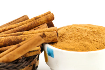 cinnamon macro isolated