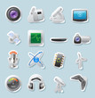 Sticker icons for technology and devices