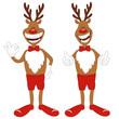 Vector illustration of cartoon Christmas reindeer.