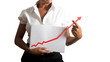 Businesswoman helps statistics