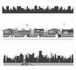 Suburban homes and City skyline
