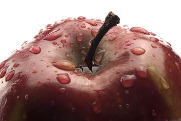 Manzana roja y agua, detalle