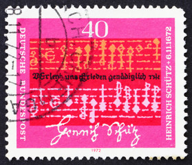 Postage stamp Germany 1972 Music by Heinrich Schutz