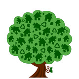 vector illustration of a green eco tree