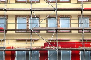Fassadenrenovierung, Gerüst