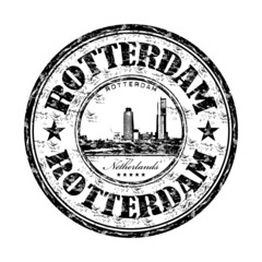 Rotterdam grunge rubber stamp