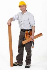 A male carpenter.