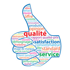 Nuage de Tags QUALITE - SERVICE - SATISFACTION (garantie client)
