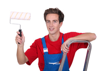 Young male decorator