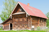 Two-storey wooden house of a wealthy farmer. Suzdal. Russia. poster