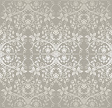 Fototapety Seamless silver lace flowers and leaves wallpaper
