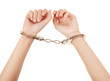 woman hands with handcuffs