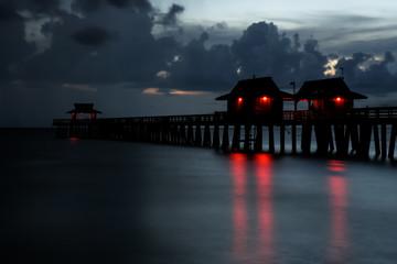Naples Pier at Night