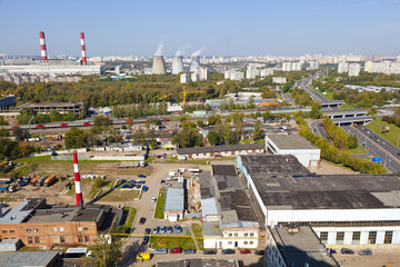 industrial area of the city