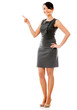 Businesswoman pointing something
