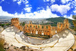 canvas print picture - ancient theater in Acropolis Greece, Athnes