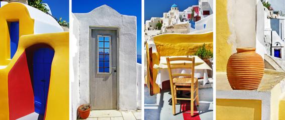 colors of Santorini. travel in Greek islands series
