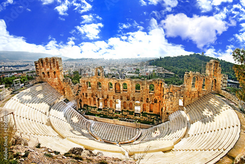 ancient theater in Acropolis Greece, Athnes - 45066701