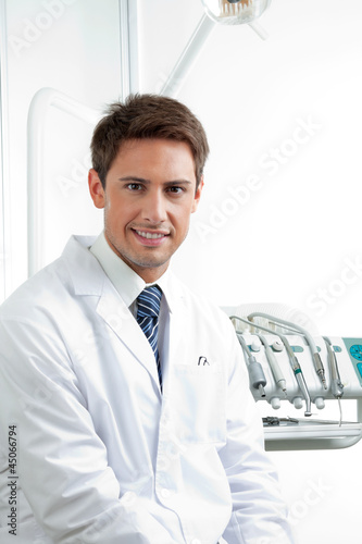Male Dentist Smiling