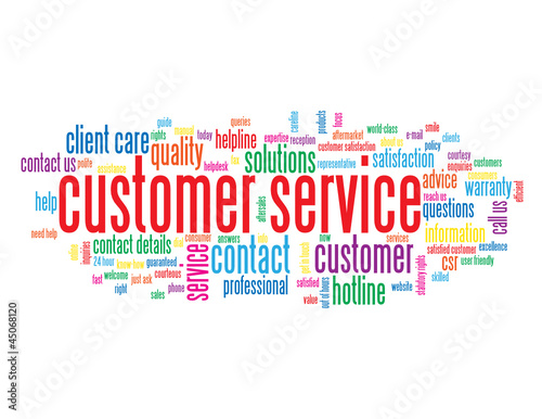"""CUSTOMER SERVICE"" Tag Cloud (information help support hotline)"
