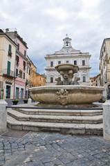 Fountain with the dragons. Civita Castellana. Lazio. Italy.