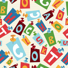 Back to School letters pattern