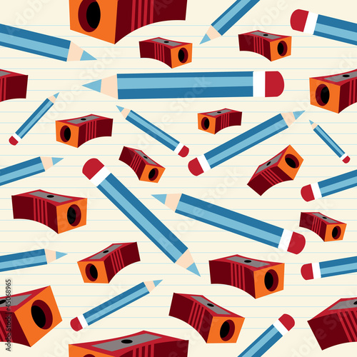 Pencil and sharpener pattern