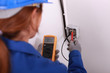 female electrician working