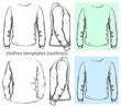 Vector. Men's t-shirt design template. outline
