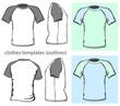 Men's t-shirt design template. Raglan sleeve. outline