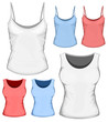 Vector woman t-shirt (undershirt) design template.