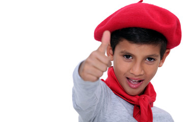 Child with red beret