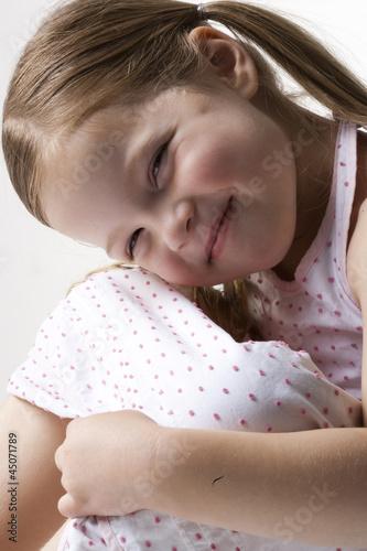 """Girl (4-5) smiling, portrait"""