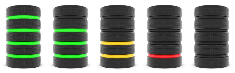 Database server or battery capacity
