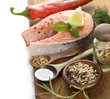 Slice Of Salmon And Wild Rice