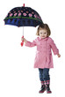 Studio portrait of girl (2-3 years) holding umbrella