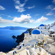Leinwanddruck Bild - Grèce - Santorin (Oia village)