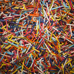 Multi colored shredded paper