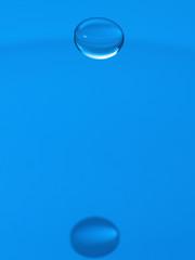 Gota de agua y reflejo