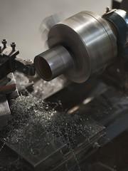"""USA, Utah, Orem, manufacturing machine in workshop"""