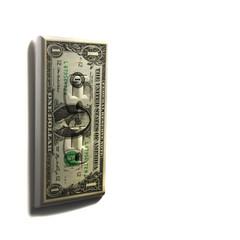 Digitally generated one dollar bill