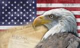 Bandera y símbolos de los Estados Unidos de América.