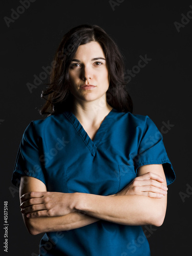 Portrait of female nurse