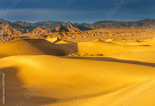 Dawn on Mesquite Dunes in Death Valley